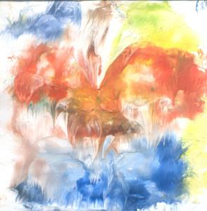 Crveni pramenovi ptice Feniks