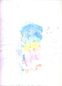 djeevojčica plavi cvijet