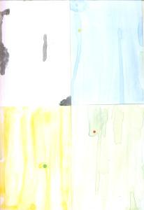 Bijela,plava,žuta,zelena