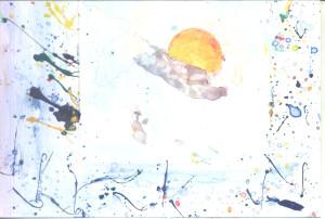 Sunce i oblak u kadru
