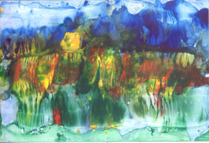 Modro zeleni vodopad