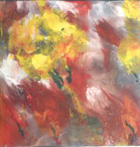 Žuta ruža među crvenim