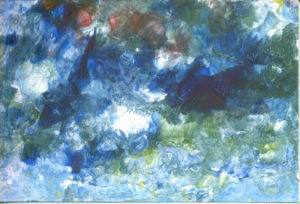 Krajolik u nijansama plavog